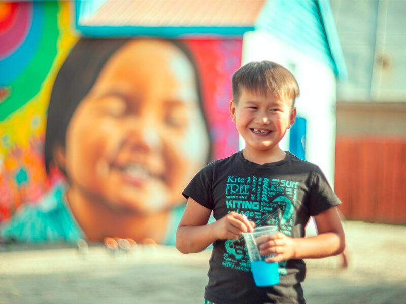 Obra de arte de Heesco en Mongolia