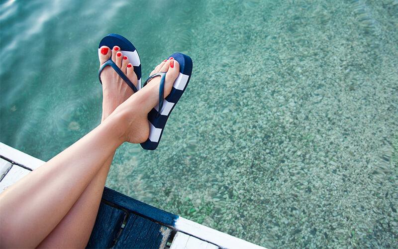 pies de verano